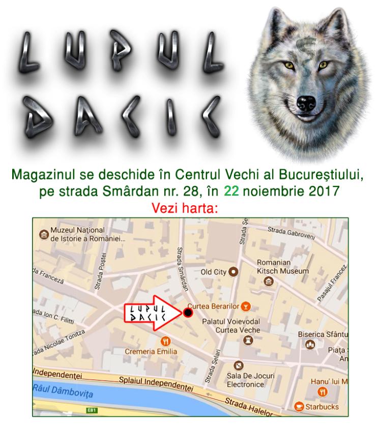 harta lupul dacic