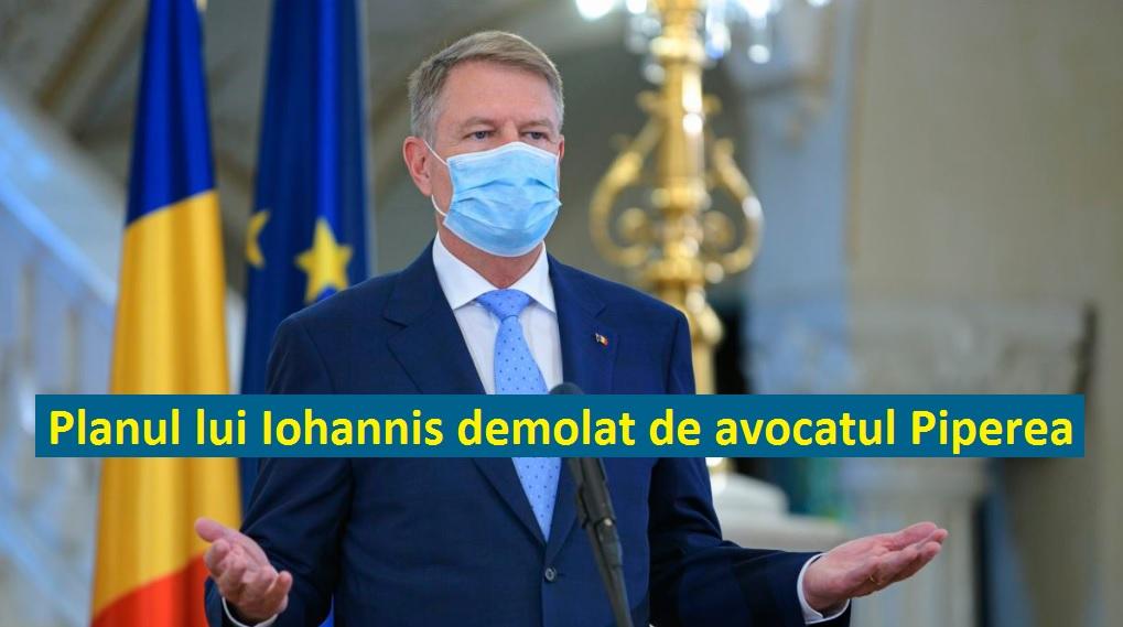Daniel Roxin » Avocatul Gheorghe Piperea demolează planul lui Iohannis de prelungire a stării de alertă, care ne va distruge economia