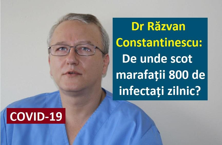 Daniel Roxin » Dr Răzvan Constantinescu are o NEDUMERIRE: De unde scot  marafații 800 de infectați cu COVID zilnic?